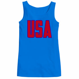 Usa America Patriotic Women Tank Top