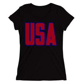 Usa-America-Patriotic-Women'S-T-Shirt