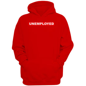 Unemployed Red Box Logo Men'S Hoodie