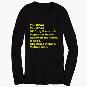Wu Tang In Helvetica Men'S Long Sleeve