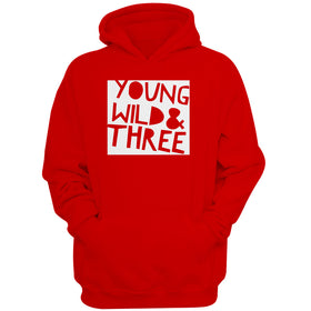 Young Wild And Three Birthday 3Rd Birthday Wild Things Men'S Hoodie