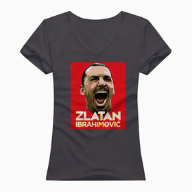 Zlatan Ibrahimovic Face Art V Neck T Shirt