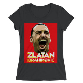 Zlatan-Ibrahimovic-Face-Art-Women'S-T-Shirt