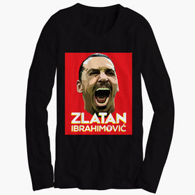 Zlatan Ibrahimovic Face Art Men'S Long Sleeve