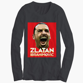 Zlatan Ibrahimovic Face Art Womens Long Sleeve