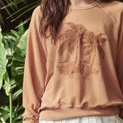 THE GREAT College Sweatshirt W/ Palm Embroidery