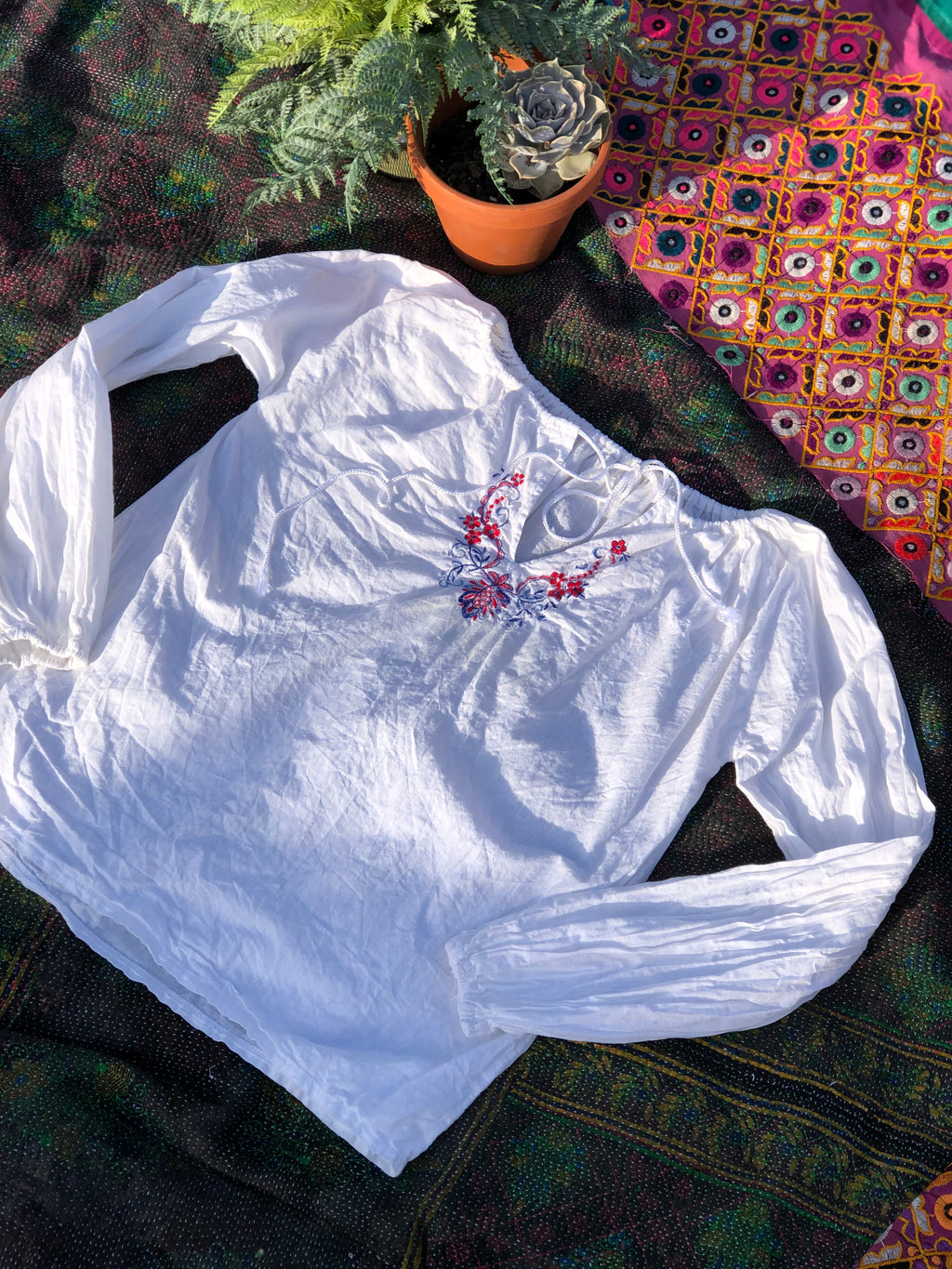 Embroidered blouse-size 12