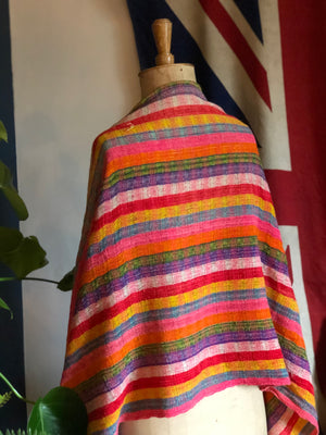 Vintage hand knitted Mexican scarf