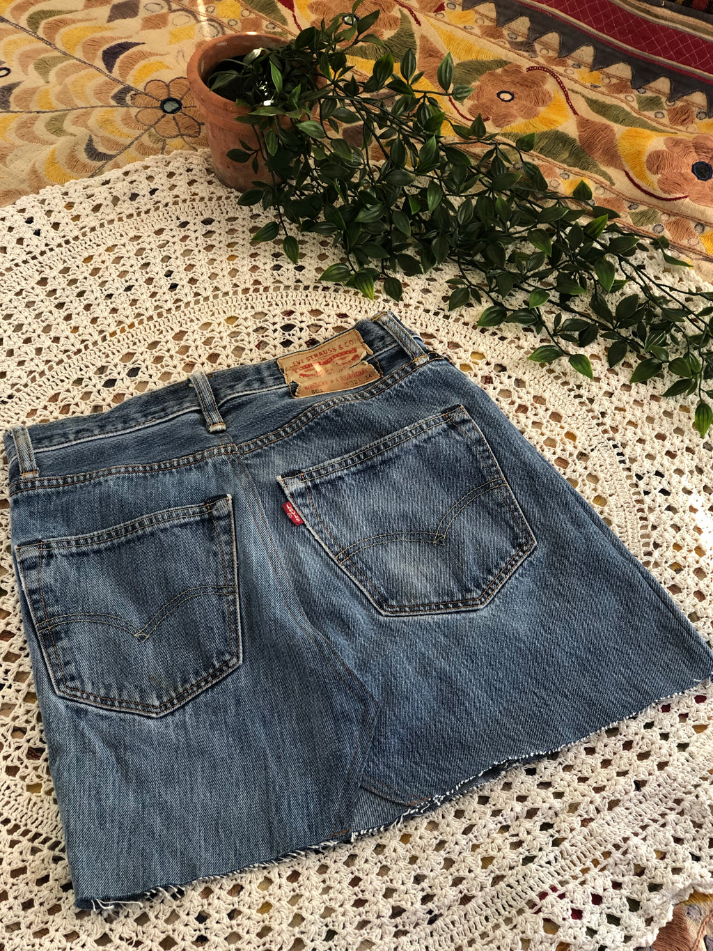 Levi's reworked vintage denim  skirt (size 6)
