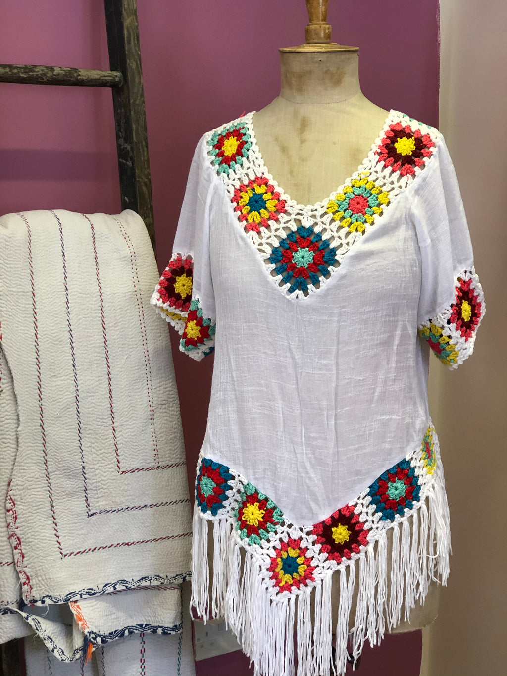 Boho crocheted top