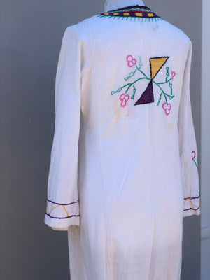 Vintage embroidered kaftan dress-size 10