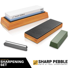 1000/6000 Grit Sharpening Stone with Leather Strop