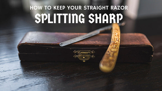 Sharp Pebble straight razor Sharpening