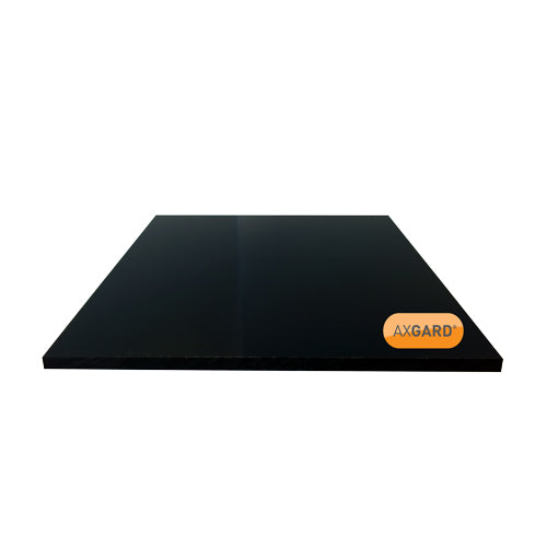 Axgard Solid Polycarbonate Glazing Sheet - BLACK