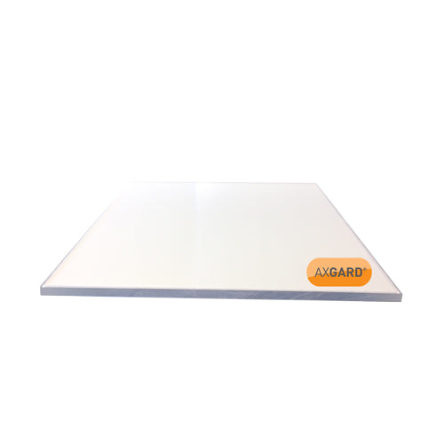 Axgard Solid Polycarbonate Glazing Sheet - CLEAR 6mm to 12mm