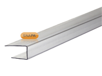 10mm clear polycarbonate 'C' section - 2100mm