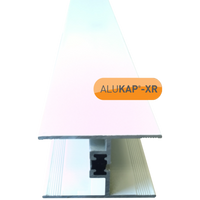 Alukap-XR 24/25mm horizontal glazing bar 2.1m white
