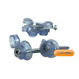 Corrapol Clear 50mm Fixings (Pack Of 10)