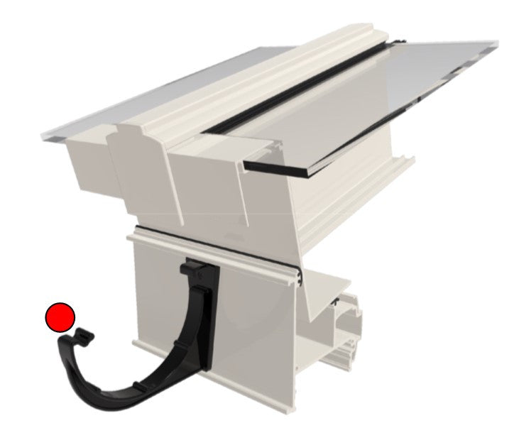 Alukap-SS Eaves Beam Gutter Bracket