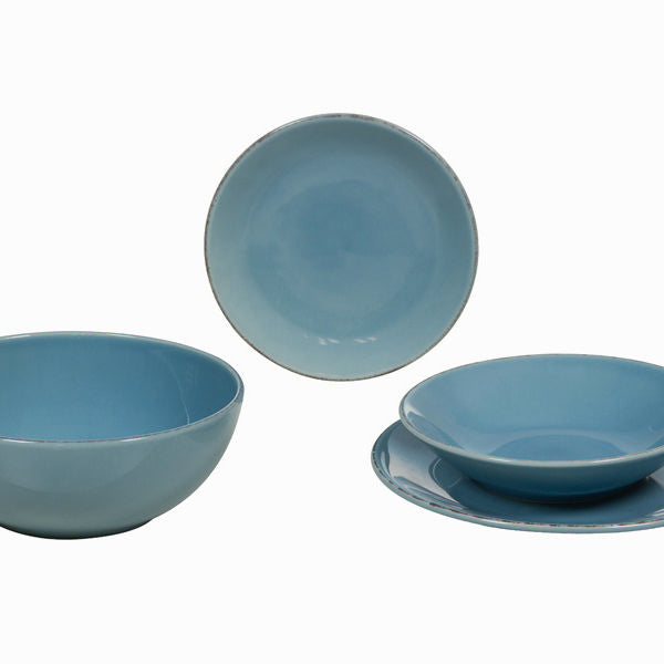 19-teiliges blaues geschirrset - Kitchen's Deco Kollektion by Bravissima Kitchen