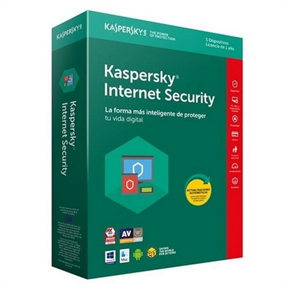 Antivirus für Zuhause Kaspersky Internet Security 2018 KL1941S5EFS-8 5L/1A Multi-Device |