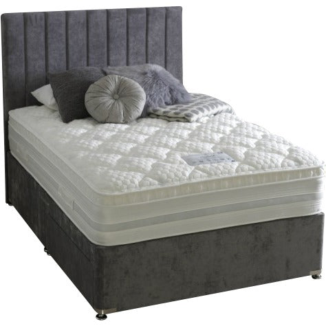 Vertical Lines Divan Bed & Floor Standing Headboard
