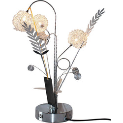 Small Tulip Silver Wire Lamp
