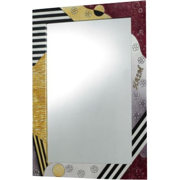 Modern Abstract Wooden Mirror