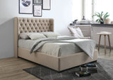Vivienne Chesterfield Wing Upholstered Sleigh Bed-Sleigh Bed-Chic Concept