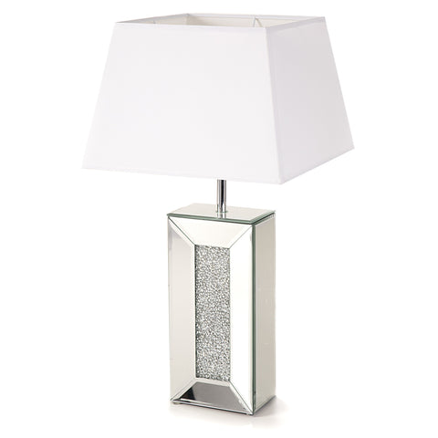 Glitz Mirrored Diamante Table Lamp-Table Lamp-Chic Concept
