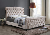 Duchess Chesterfield Upholstered Sleigh Bed-Sleigh Bed-Chic Concept