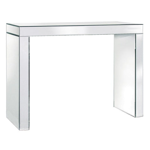 Mirrored Glass Console Table