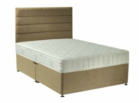 Horizontal Lines Divan Bed & Floor Standing Headboard