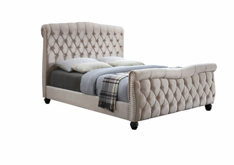 Duchess Chesterfield Upholstered Sleigh Bed