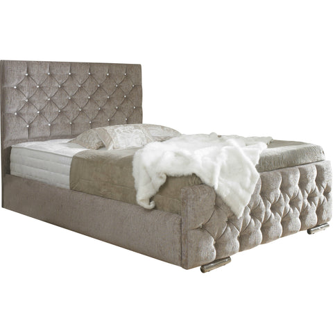 Lillian Chesterfield Sleigh Bed
