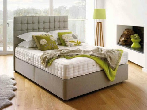 Small Cubic Floor Standing Headboard & Ottoman Storage Bed
