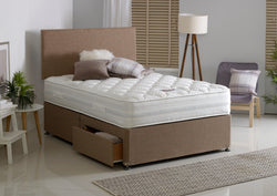 Plain Divan Bed & Floor Standing Headboard