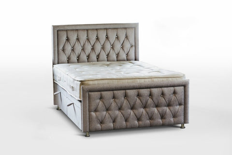 Rozzini Chesterfield Ottoman Storage Bed