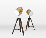 TF2675S - Small Wooden Tripod Lamp