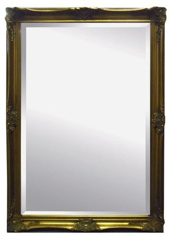 Vintage Traditional Gold Ornate Frame Bevelled Wall