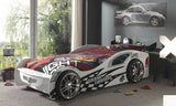 Gran Turismo White Racing Car Bed