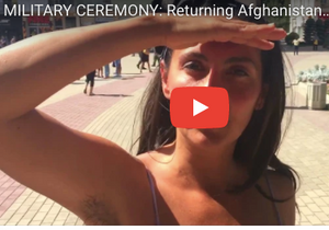 Military Ceremony with Afghanistan Soldiers
