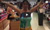 Tsetsi Trying on Clothes in a Shop. Video in English