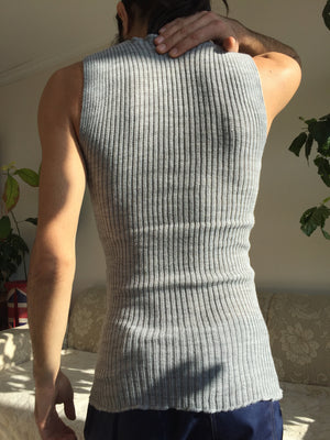 Light Grey Thermal Tanktop - Unisex