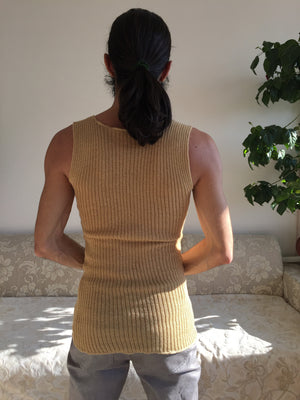 Beige Tank Top for Women & Men