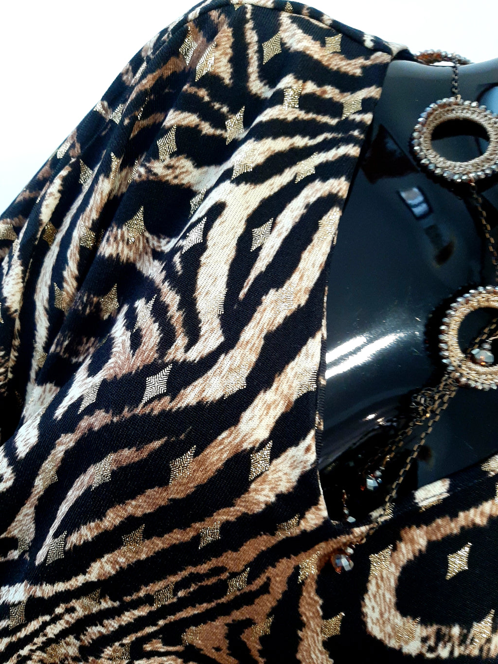 Animal Print Tie Front Top T104