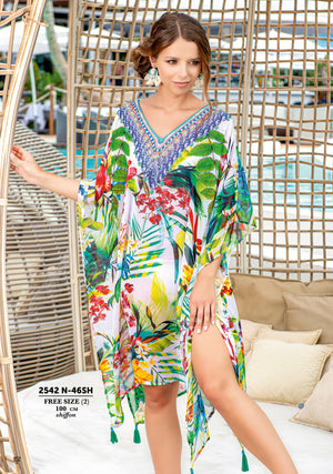 Three Quarter Kaftan with Cold Shoulder (2542) T192