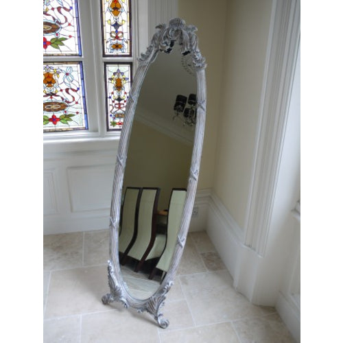 Cheval Mirror  Shabby White 2769