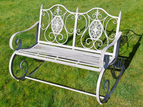 Rocking Bench Antique Grey Finish 4845