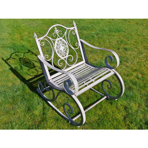 Rocking Chair Antique Grey Finish 4846